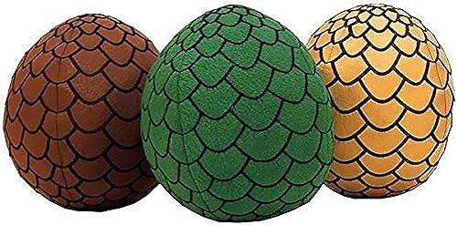 barato en línea Game Of Of Of Thrones 7 Plush Dragon Egg Set Of 3  verde, oro & marrón by Factory Entertainment  los últimos modelos