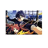 ZHENL Black Bullet Anime Poster Poster Decorative Painting Canvas Wall Art Living Room Posters Bedroom Painting 12x18inch(30x45cm)