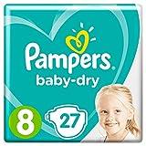 Pampers Baby-Dry T8 27 Couches Une Peau Bien au Sec Qui Respire