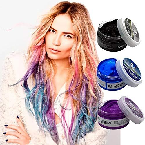 Cera para Pintar Cabello Kalanxuan Hair Wax Varios Colores (Azul)