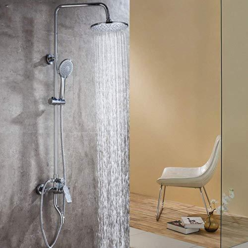 XUSHEN-HU Cromo baño ducha conjunto multifunción tres velocidades ducha y ducha fría gran baño cobre grifo hermoso y práctico baño