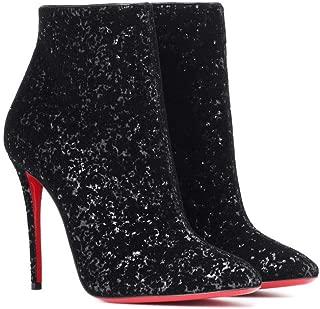 christian louboutin black glitter shoes