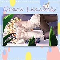 GraceLeacock カードゲームプレイマット 遊戯王 プレイマット 魔法少女まどか☆マギカ 巴 マミ TCG万能 収納ケース付き アニメ 萌え カード枠なし (60cm * 35cm * 0.3cm)