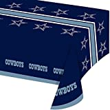 Creative Converting Officially Licensed NFL Plastic Table Cover, 54x102, Dallas Cowboys