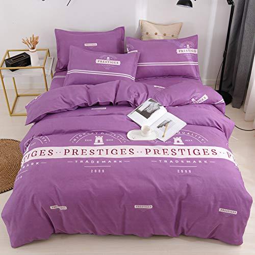 CYGJ CYGJThree-piece or four-piece set of soft and comfortable cotton beddingpurpleFour sets of 1.5m bed