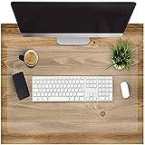 Alfombrilla de escritorio grande 2 en 1 y alfombrilla de ratón extendida, resistente al agua con base antideslizante, 80 x 40 cm, delgada 1,5 mm (Transparente)