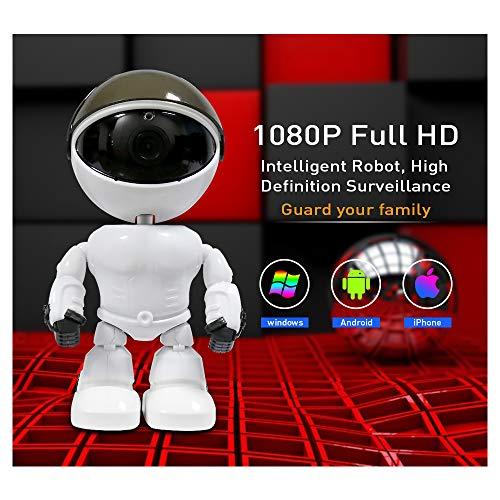 YAOkxin Espía cámara Oculta visión Nocturna infrarroja una máquina de teléfono móvil Monitor Remoto 1080P Full HD Robot Inteligente, vigilancia de Alta definición Guarda tu Familia