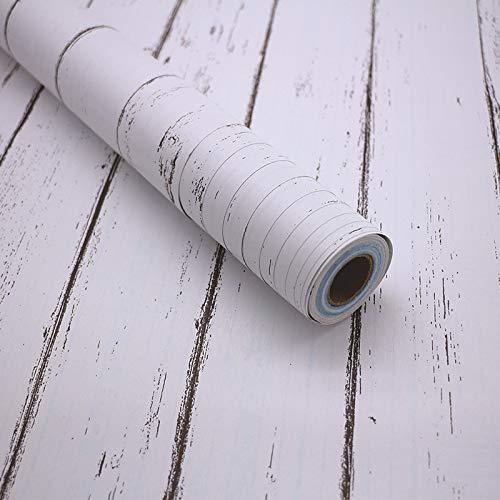 LZYMLG Nordic Pvc selbstklebende Holzmaserung Tapete Küche Schlafzimmer Wohnzimmer Studentenwohnheim Diy Dekorative Aufkleber Nordischer weißer Ahorn
