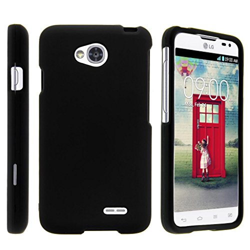 TurtleArmor | Compatible with LG Optimus L70 Case | LG Ultimate 2 Case | LG Exceed 2 [Slim Duo] Slim Fit Hard Protector Snap On Case with Rubberized on Black Music - Black