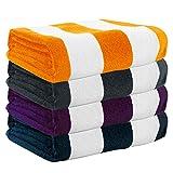 Exclusivo Mezcla 4-Pack 100% Cotton Cabana Striped...