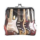 Monederos Guitarra eléctrica Hebilla Kiss-Lock Carteras Vintage Bolsas de cosméticos de Embrague