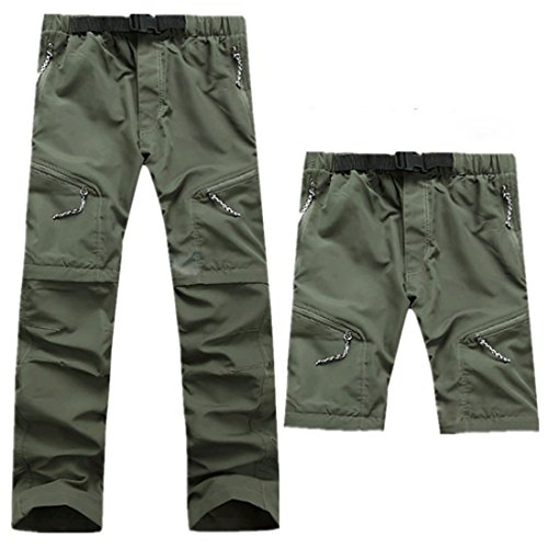 AIEOE Pantalones Trekking para Montaña Desmontable en Rodillas Secado