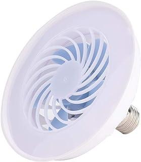 koulate Linterna para Acampar, Ventilador, Ventilador Personal silencioso, Ventilador LED Blanco cálido para Carpa, hogar y Oficina, 12 W, Blanco