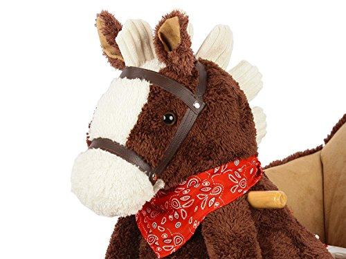 Dunjo® Baby Schaukeltier Pferd mit Sitz, Rollen, Soundmodul, 66283 - 2