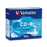 Verbatim CD-R 700MB 80 Minute 52x Recordable Disc - 10 Pack Slim Case - 94935
