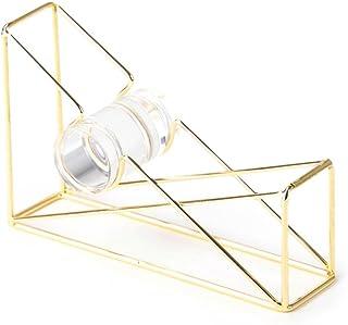 U Brands Desktop Tape Dispenser, Wire Metal, Gold - 898U06-48