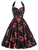 GRACE KARIN Vintage Dresses Knee-Length Floral Print Cocktail Dress 75-28, XL