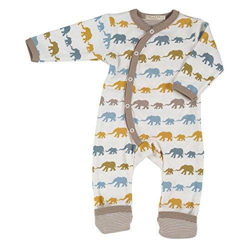 Pigeon-organics For Kids Grenouillère Pyjama Long Elephant Moutarde Mix Nouveau-né