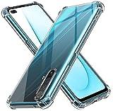 ivoler Funda para Realme X3 SuperZoom/Realme X50 5G, Carcasa Protectora Antigolpes Transparente con Cojín Esquina Parachoques, Flexible Suave TPU Silicona Caso Delgada Anti-Choques Case Cover