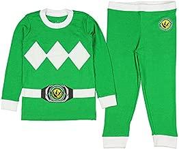 Intimo Kids Mighty Morphin Power Rangers Costume Pajama Set (Green, 10)