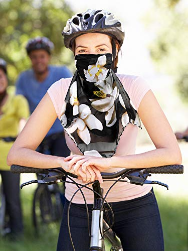 SATINIOR 6 Pieces Sun Protection Face Covers Balaclava Breathable Neck Gaiters for Women (Dark and Light Floral Colors)
