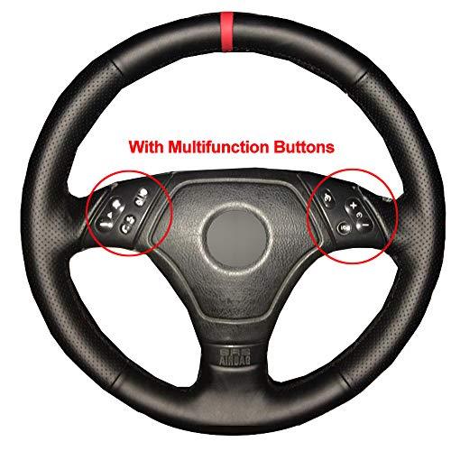 DHFBS Hand Naaien Auto Stuurhoes Volant Funda Volante, Voor BMW E36 E46 E39 Braid op het stuur Auto-accessoires