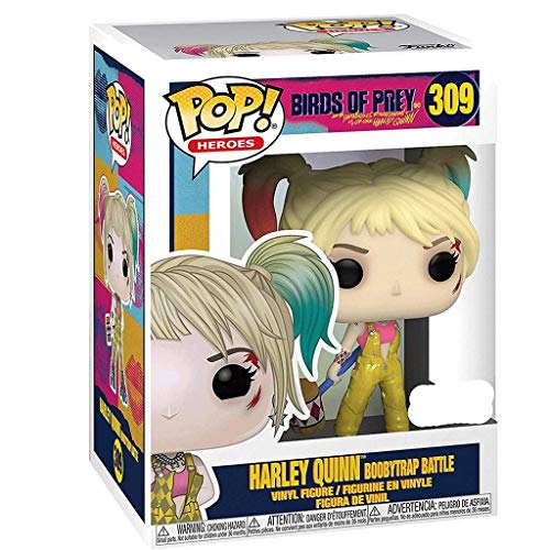Funko Pop Heroes : Birds of Prey - Harley Quinn (Boobytrap Battle Exclusive) #309 Figure Gift Vinyl 3.75inch for Villain Heros Movie Fans SuperCollection