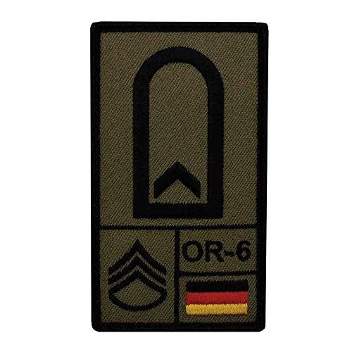 Café Viereck ® Feldwebel Bundeswehr Rank Patch mit Dienstgrad - Gestickt mit Klett – 9,8 cm x 5,6 cm