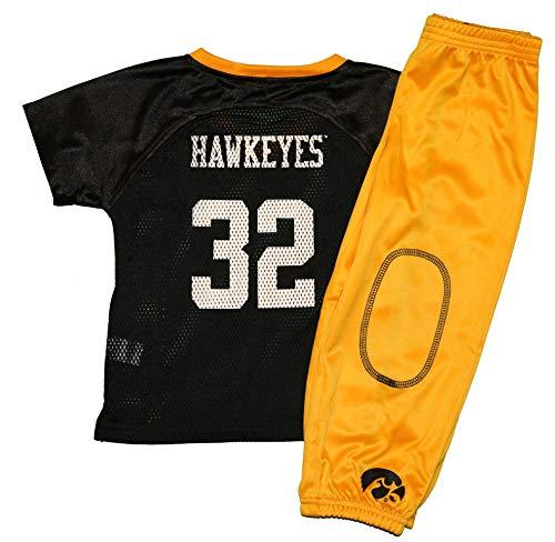 Pro Edge NCAA UI University of Iowa Hawkeyes Toddler's Short Sleeve Jersey & Pants Set (2T)