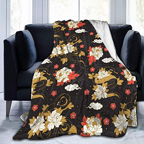 Manta de forro polar de color dorado y nube, ultra suave, acogedora manta de cama para cama, sofá, sala de estar, playa, picnic, otoño, primavera, invierno