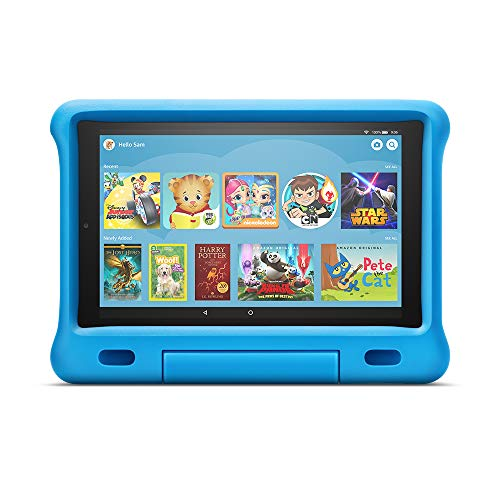 Kid-Proof Case for Fire HD 10 Tablet (Compatible with 7th and 9th Generations, 2017 and 2019 Releases), Blue