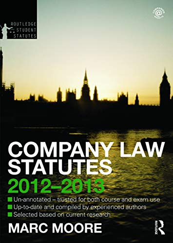 Company Law Statutes 2012-2013 (Routledge Student Statutes)の詳細を見る