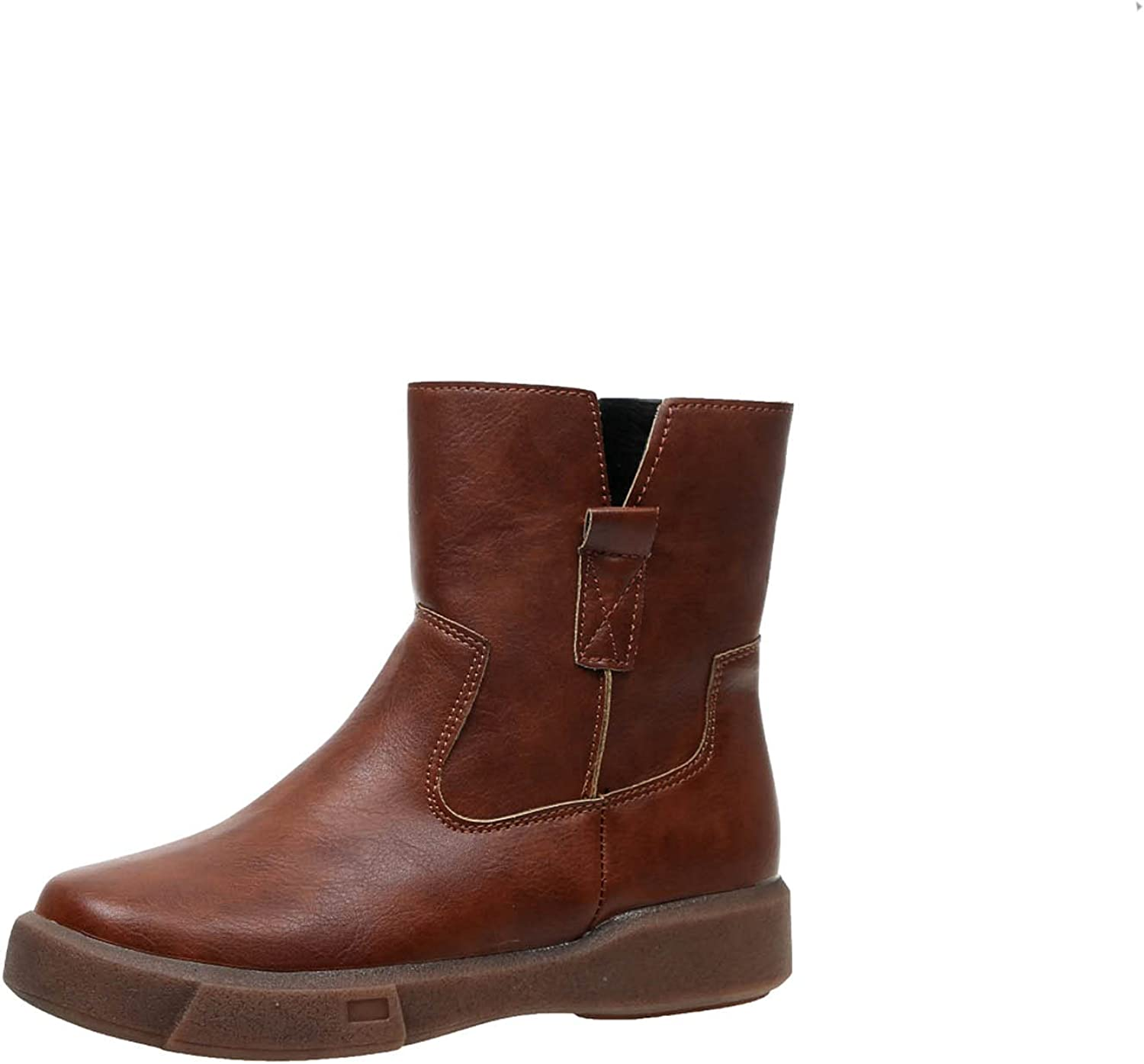 Women Dressy Vintage Boots Free shipping on posting reviews Slip-On Side Zipper Direct store Waterproof Autumn