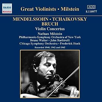 Mendelssohn / Tchaikovsky / Bruch: Violin Concertos (Milstein) (1940-1945)