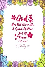 2 Timothy 1:7 God has not given us a spirit of fear, but of power: Bible Verse Quote Cover Composition Notebook Portable
