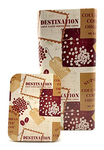Perfekto24 Aufbewahrung Kaffee 1kg Bohnen - die Kaffeedose hält Kaffeebohnen/Pulver länger frisch - Vorratsdose mit Aromaverschluss - Nostalgie Kaffeebehälter 1kg