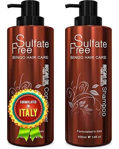 Natural Organic Moroccan Argan Oil Shampoo and Conditioner Set Sulfate Free