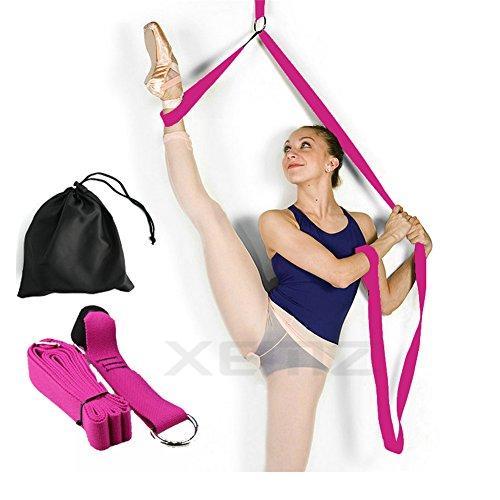 Banda elástica para piernas, entrenador de flexibilidad de puerta, Mejorar la flexibilidad de la pierna, equipo perfecto para baile de ballet ejercicios de taekwondo entrenamiento de gimnasia, rosa