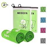Botack Kühlhandtuch Cool Handtuch Sofort Kaltes Kühlende Atmungsaktiv Sporthandtücher für Laufen Yoga Golf Gym 2er 4er 6er Set