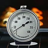 HUVE Acier Inoxydable 0-400 °C Thermomètre, Cuisson Four, thermomètre analogique...