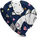 Gorras/Sombrero de Punto, Cute Alpacas Pink Heart Classic Unisex Winter Warm Knitting Hats Beanie Hats Skull Cap