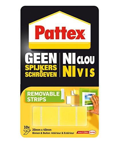 Pattex – plakband – montagestrips – afneembaar – 10 stuks