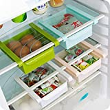 Uteruik Organizador de almacenamiento para frigorífico, congelador, ahorro de espacio, 1 unidad, color al azar