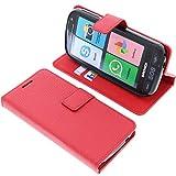 foto-kontor custodia a libro per brondi amico smartphone (non per amico smartphone 4g) di colore rosso