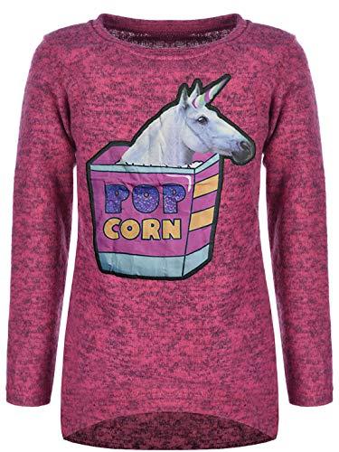 BEZLIT Kinder Mädchen Pullover Einhorn in Popcorn Sweatshirt Pulli Sweater 30181 Pink 128