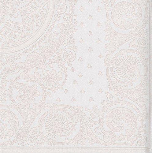 Caspari met 12271lg Jacquard papier linnen servet Luncheon, wit, pak van 15