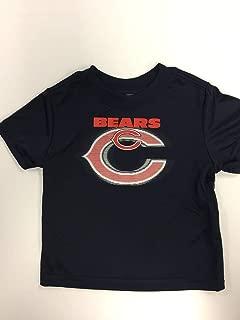 NFL Chicago Bears Boys Short Sleeve Solid Logo Tee Shirt, Team Color, 4T