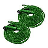 Helo Flexibler Gartenschlauch Flexischlauch Schlauch 2 x grün 7,5 m
