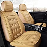Walking Tiger Juego de fundas para asiento de coche de piel sintética para BMW Serie 3 E90 2005-2012 (beige)