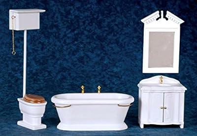 Dollhouse Miniature 1:12 Scale Old Fashioned Bath Set #t5305